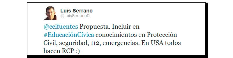 Tweet Emergencias