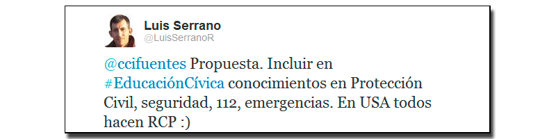 Tweet Emergencias